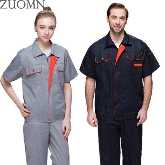 Summer-Men-font-b-Women-b-font-Work-Clothing-Sets-font-b-Workwear-b-font-Suits